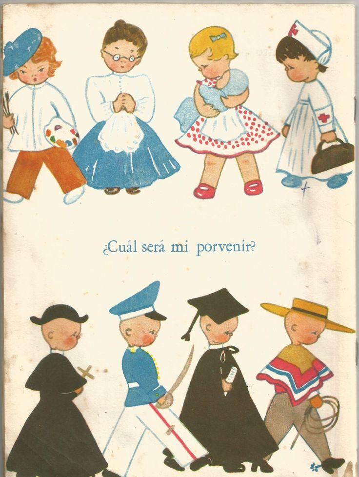 Ilustración de María Luisa Langlois para el libro Recuerdos del nene (1957)