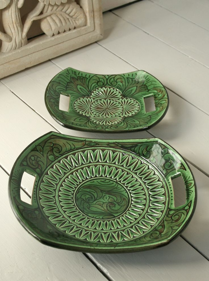 handmade pottery platters from Looker & Bell