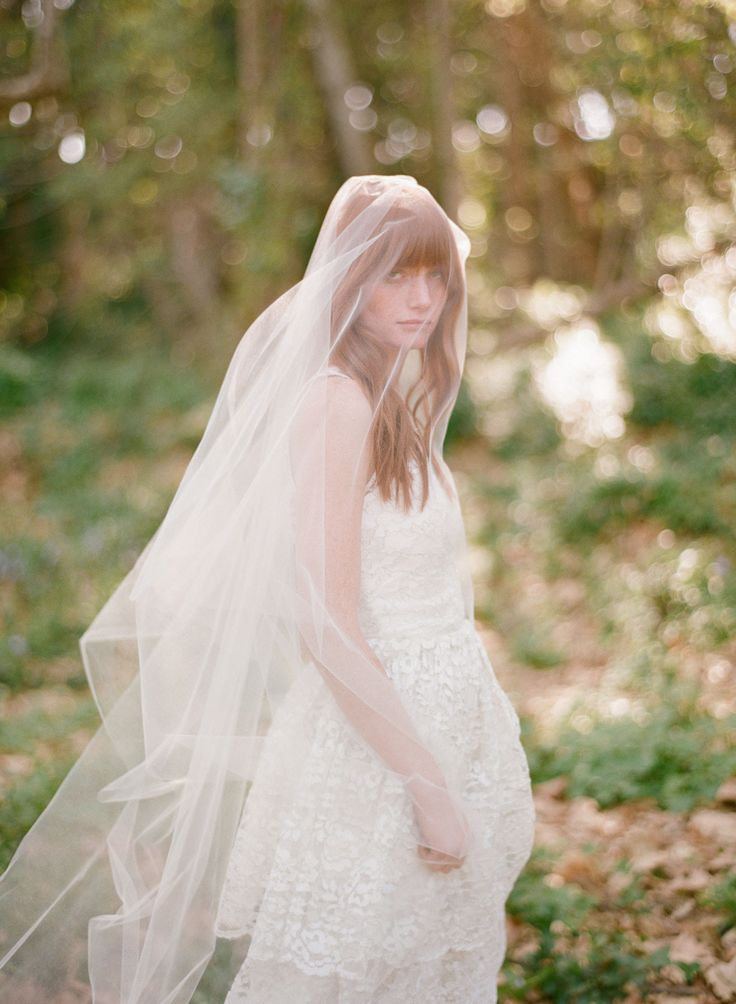 Simple Cathedral length veil - Style #357   Twigs & Honey ®, LLC