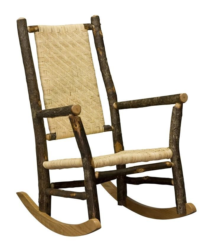 Amish Cane Rocking Chair   Hickory Grandpa Rocker