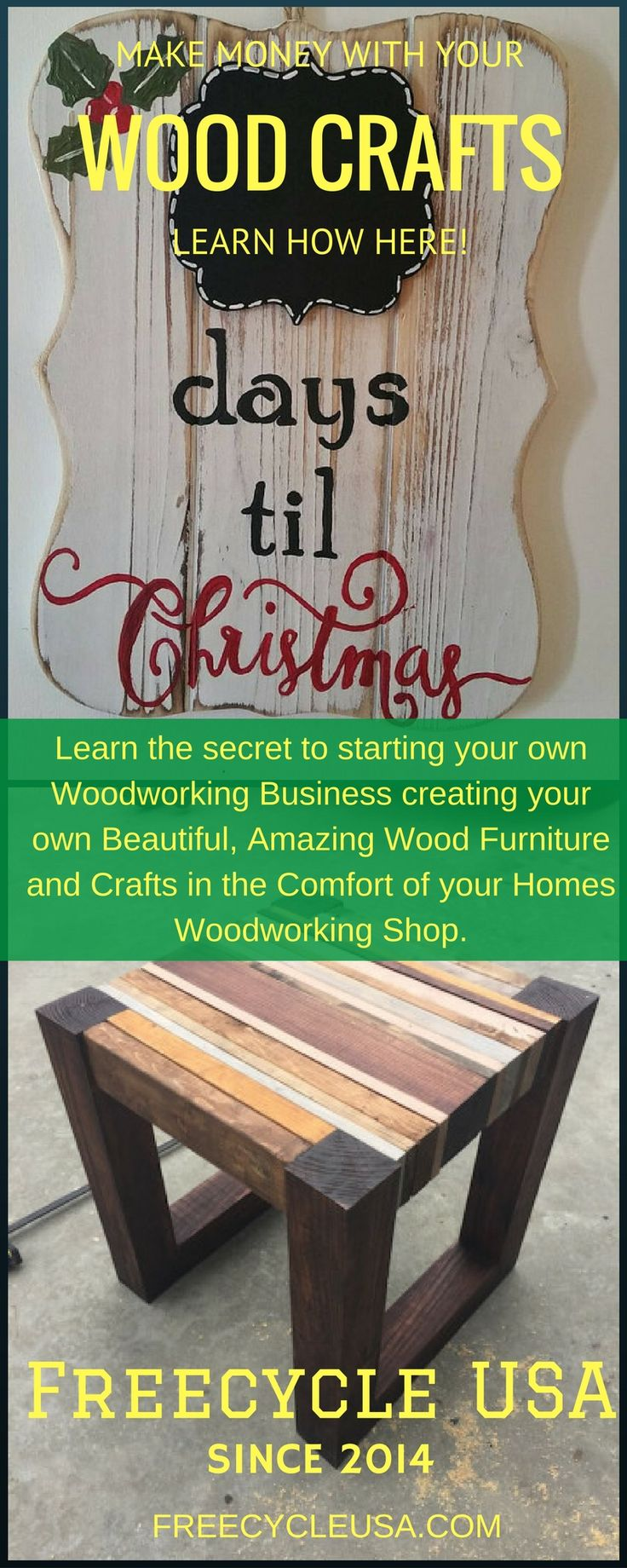 How to make easy money with your wood crafts woodworking for Money making craft projects