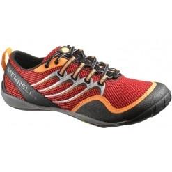 Merrell Trail Glove Scarlet-Vulcano, una de las zapatillas minimalistas más populares para trail runners.