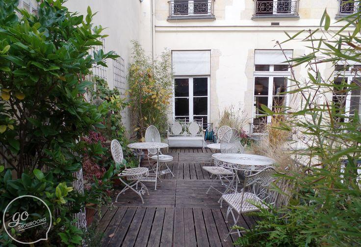 Location terrasse Paris evenementiel - Petite terrasse privative à 2 pas de la Place des Victoires et du Palais Royal. Idéal pour un showroom très ponctuel!