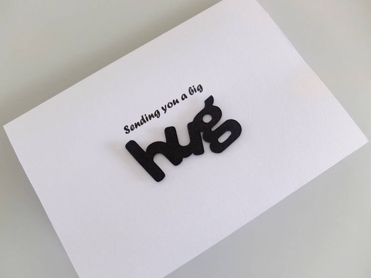 Sending You a Hug, Big Hug Card, Thinking of You, Sympathy Card, Romantic Card, Custom Made Card, Personalised Card, Card with Own Words by PersonalisedCardShop on Etsy