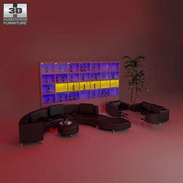 nightclub interior black obj
