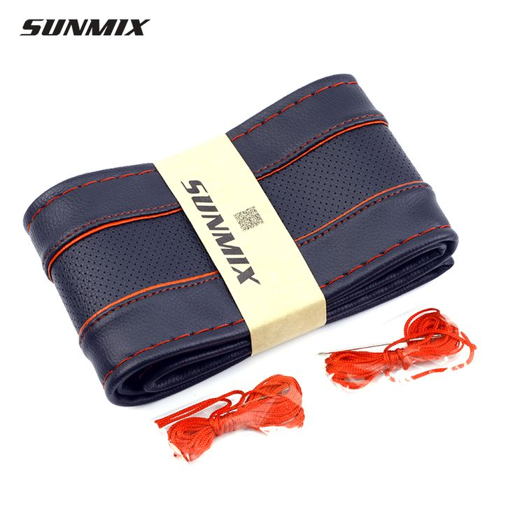 Diseño respiradero SUNMIX cubierta del volante decoración de coser dirección cubierta ribetes de contraste la línea roja clásica trenza en la rueda