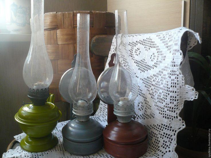 Купить Лампа керосиновая с отражателем и без - лампа керосиновая, винтажная лампа, заготовка для декупажа