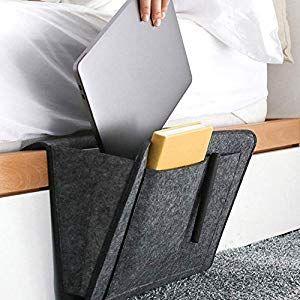 Jf Room Betttasche Filz Bettablage Organizer Anti Rutsch Nacht Caddy Aufbewahrungstasche Fur Buch Zeitschriften Tablethandy Fernbed Bettablage Ablage Organizer