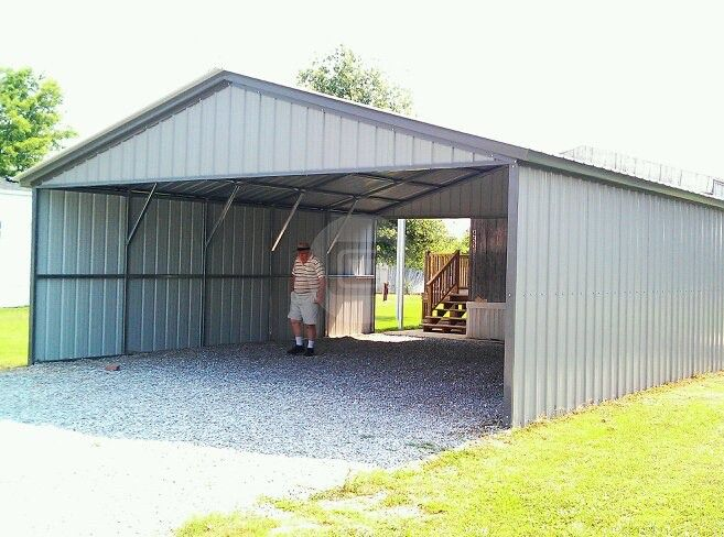 28x31 Carport Metal Barn Central Shed Plans Shed Metal Building Prices
