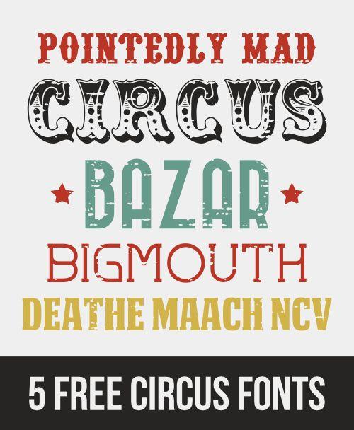 5 free vintage circus fonts ‹ AnnaBV DesignsAnnaBV Designs  http://annabvdesigns.com/5-free-vintage-circus-fonts/