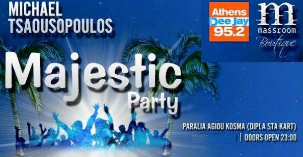 Majestic party στο Massroom Boutique club από τον radio deejay 95.2