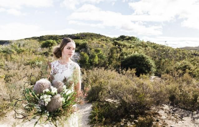 White Magazine shoot. Silversalt-Photography . Weddings by Tania-Hair & Makeup . Lost in Paris Bridal- dress. Floral Ink- Floral Designs