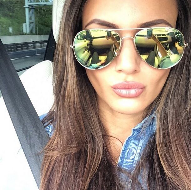 Michelle Keegan Rocking Some Mirrored Aviators