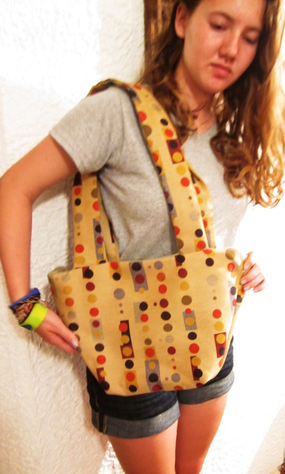 Tote Bag  Mod Dots Purse by handjstarcreations on Etsy, $35.00: Tote Bags, Bag Mod