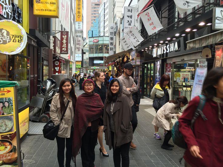 Myeongdong Shopping District, S. Korea