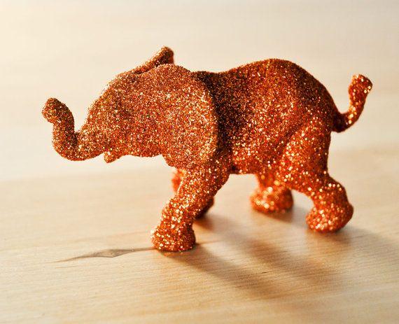 Orange Baby Elephant Jungle Safari Baby Shower by wishdaisy