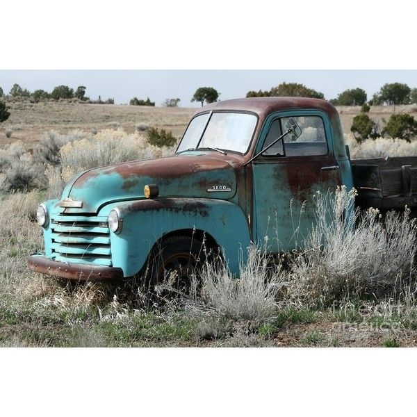 Old Chevy Farm Truck in the Field ❤ liked on Polyvore featuring cars, backgrounds and pictures