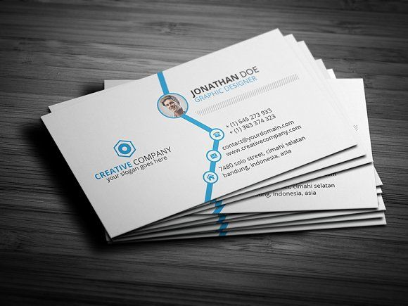 Clean Corporate Business Card Corporate Business Card Business