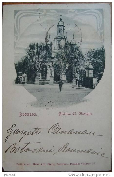 Bucuresti - Biserica Sf. Gheorghe - antebelica