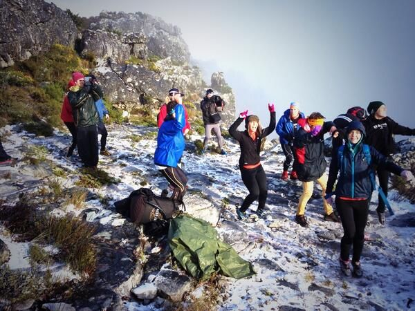 Cape Winter Storms | HeyBrew @HeyBrewCoffee 4h Jumping around in the snow... With a hot cuppa of course!! @nodangerdiaries what a cool thing to do #snowhunt2