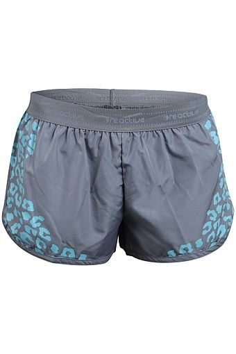 Women - ONE active by Michelle Bridges Run Short with Print Front