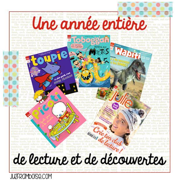 Chez Ju' de Framboise, un abonnement d'1 an au magazine de votre choix à gagner de chez Milan presse ! http://www.ju2framboise.com/2013/10/trickortreat-5-magazines-enfants-milan-presse.html