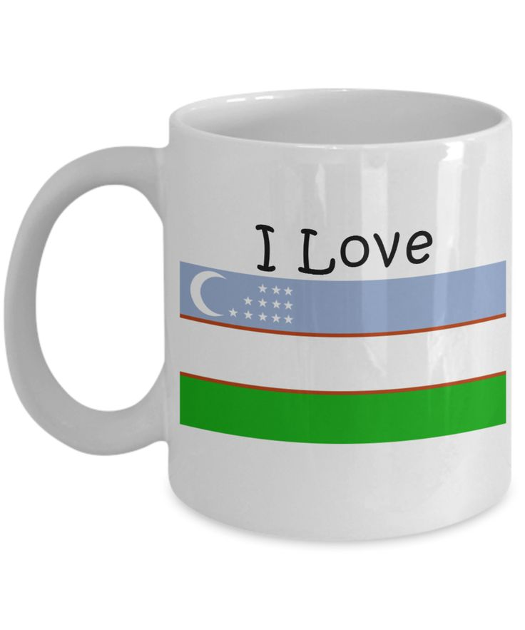 I Love Uzbekistan Coffee Mug With A Flag