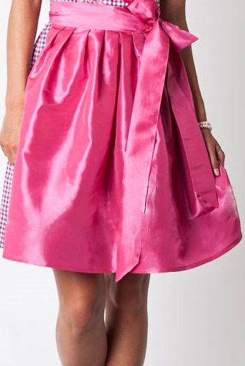Mini dirndl skirt made of satin 59 cm strawberry pink by Nanenda