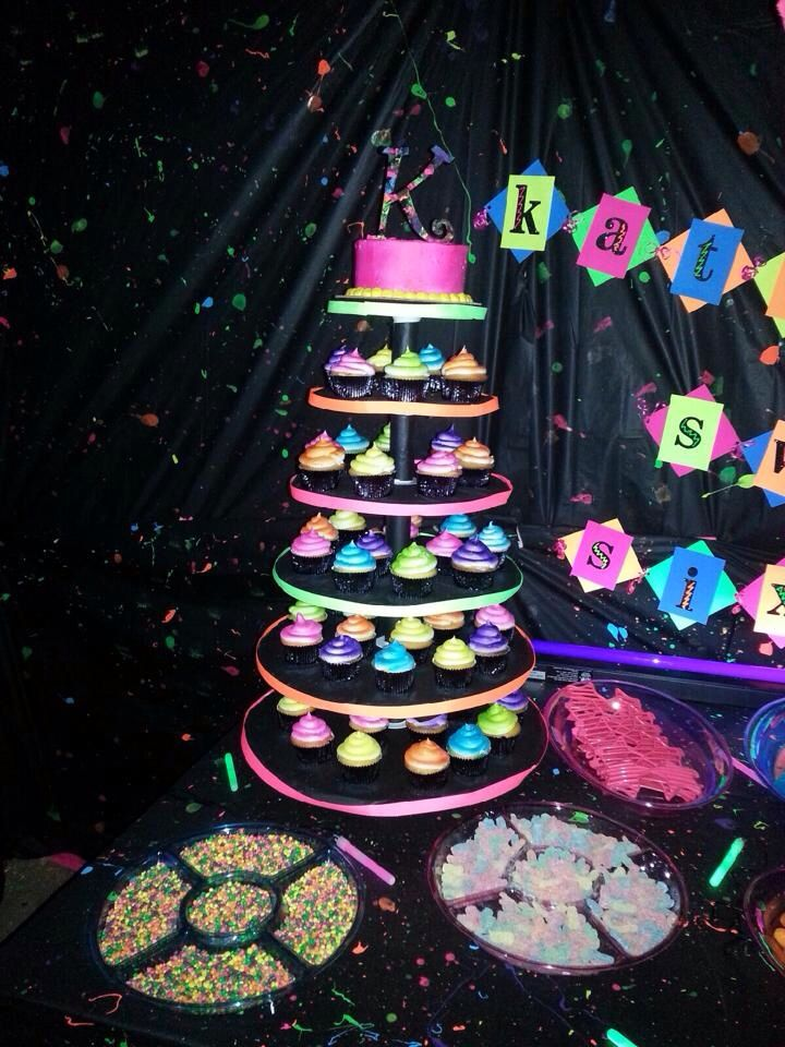 Cake And Cupcakes Neon
