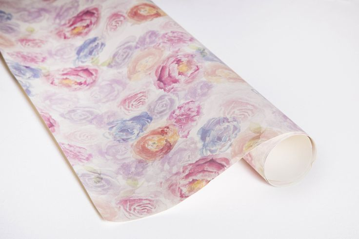 Mixed Blossom Gift Wrap  100% recycled Hand-painted, watercolour florals Uncoated and matte sheets #giftwrap #wrappingpaper #craft #paper #watercolour #florals