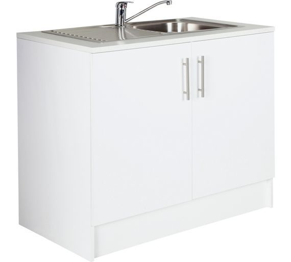 Buy Athina 1000mm Stainless Steel Kitchen Sink Unit - White at Argos.co.uk, visit Argos.co.uk to shop online for Sinks and taps, Fitted kitchens, Home and garden