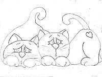 desenho-gatos-para-pintar