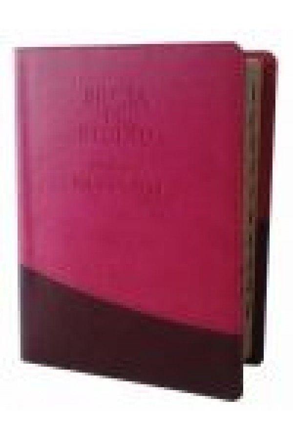 Biblia de studiu pentru o viata deplina, cu concordanta, explicatii, index, roz/maro