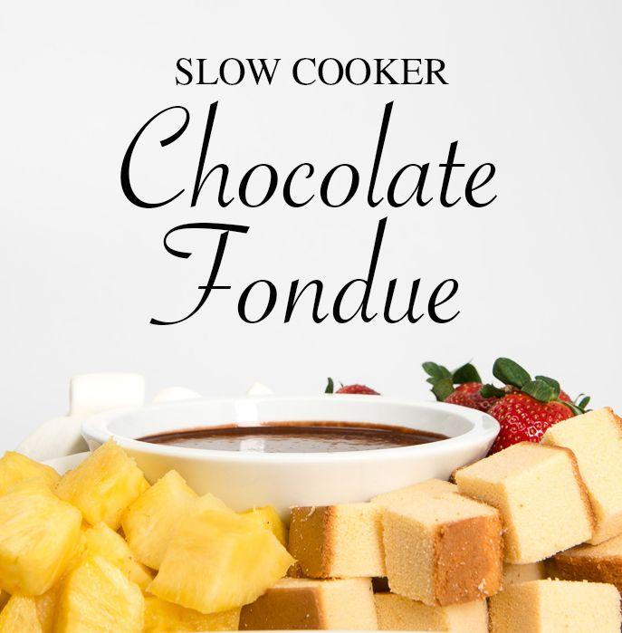 Slow Cooker Chocolate Fondue Romantic Dinner For Tworomantic
