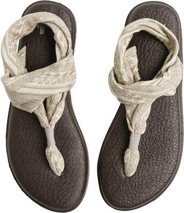 SANUK YOGA SLING....love yoga mat flip flops #sandals #shoes #flipflops