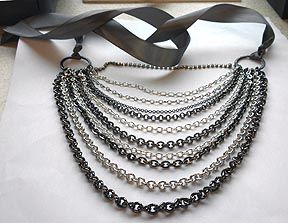 How To: make your own multi-chain necklace. Stunning, simple & adds edge to an LBD or glams up a casual outfit.
