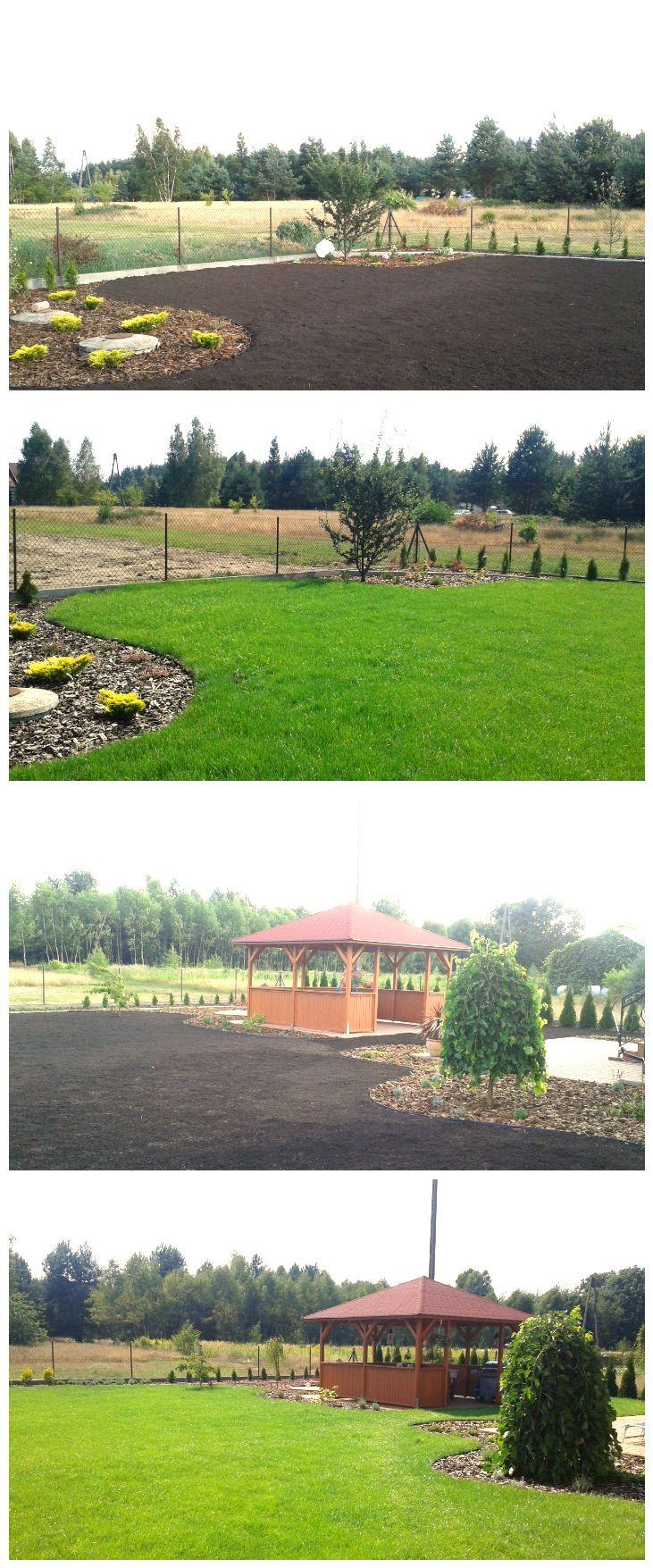 Soczysta zieleń nowo powstałego trawnika - Ogrody Tarnów  #greentar #ogrody #tarnow #trawnik