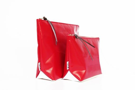 Wet Bag Upcycling Truck Tarpaulin Water Repellent Pouch Lunchbag