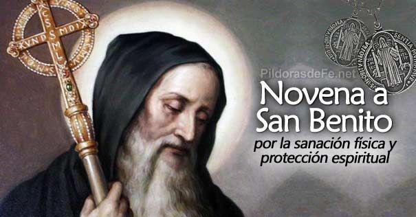 Esta novena a San Benito, al igual que su Medalla nos invita a la oración constante contra el mal espíritu y además para la sanación de enfermedades