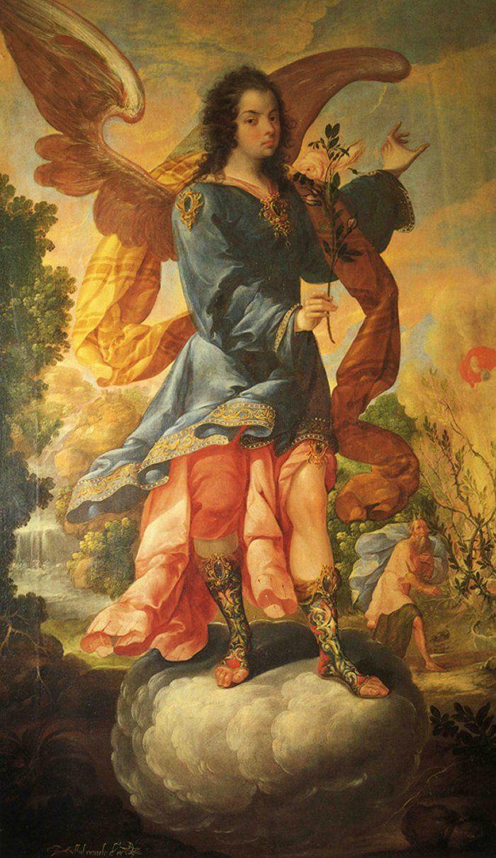 Arcángel Baraquiel, by Cristobal de Villalpando (1688)