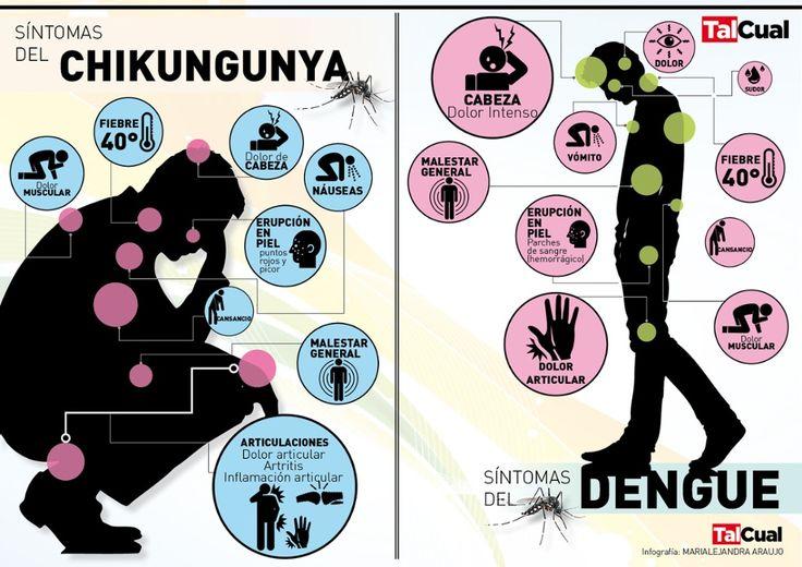 Síntomas del chikunguya y el dengue, vía @diariotalcual