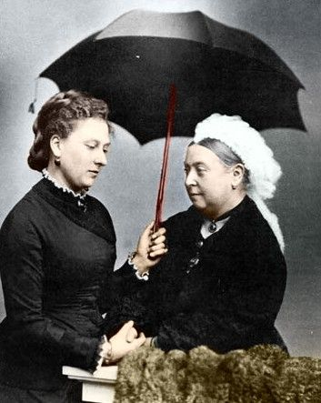 Princess Beatrice with her mother, Queen Victoria