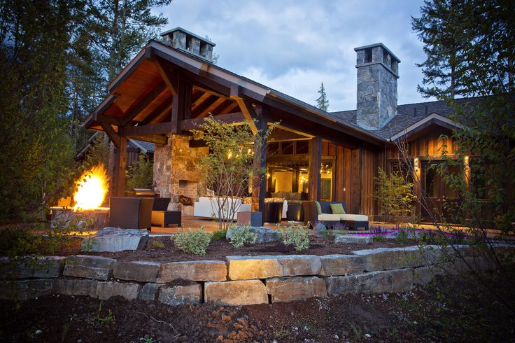 Back Porch-Timbers Residence › Frontier Builders