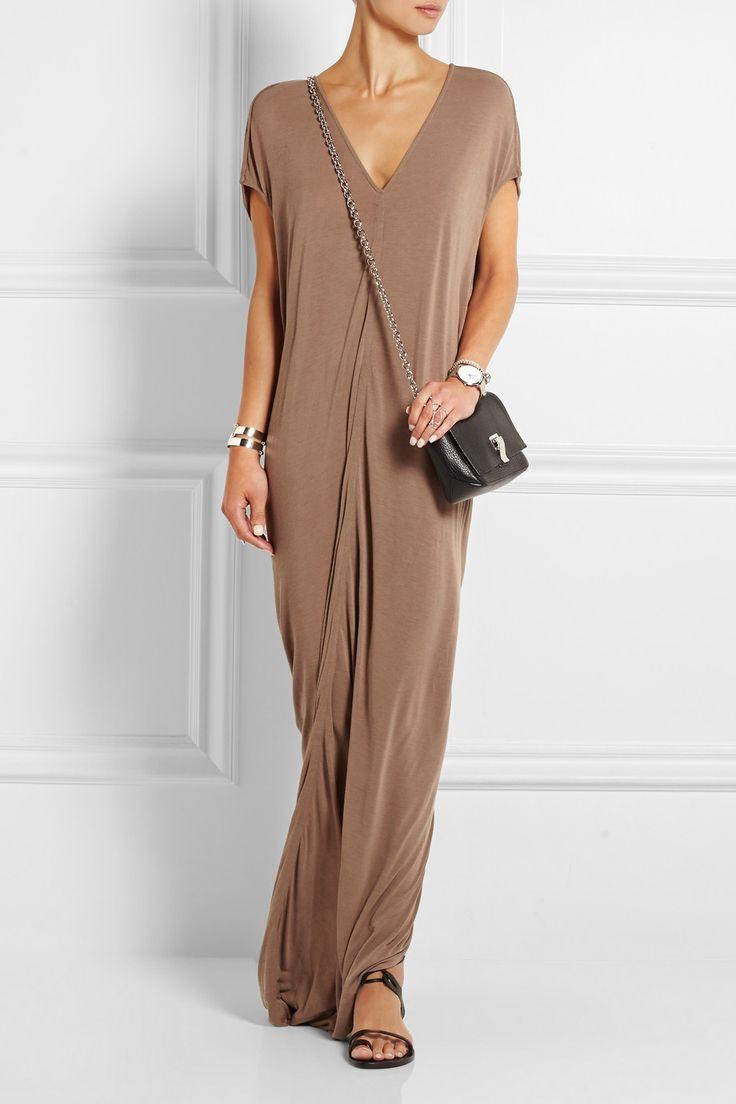Cotton-jersey Maxi Dress - Cream Rick Owens Recommend Online 7CuNleIBy