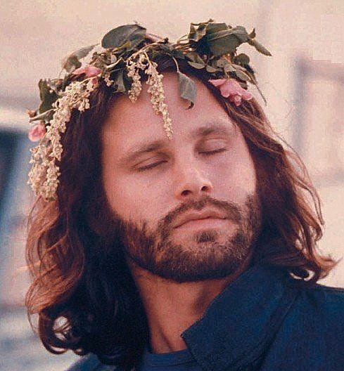 Jim Morrison.. with flowers in his hair