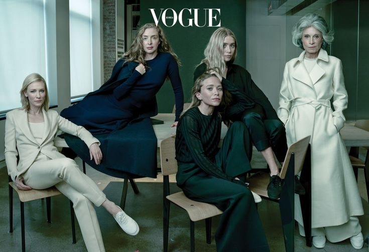 케이트 블란쳇, 아티스트 레이첼 파인스타인, 메리 케이트와 애슐리 올슨, 워싱턴의 소셜라이트 겸 스타일 아이콘 디다 블레어가 뉴욕의 더 로우 매장에서 포즈를 취했다.