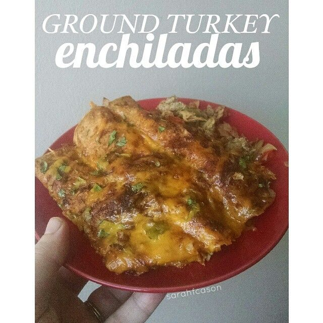 Ground Turkey Enchiladas... SO GOOD! #21dayfix approved, too! Need a healthy version, check it out!