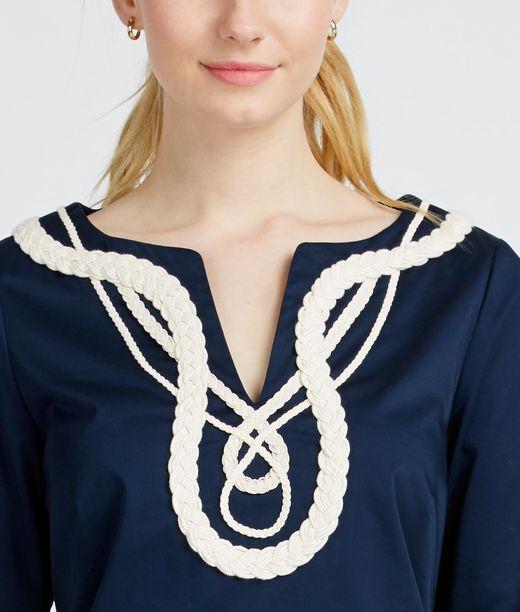 Rope Applique Tunic Dress