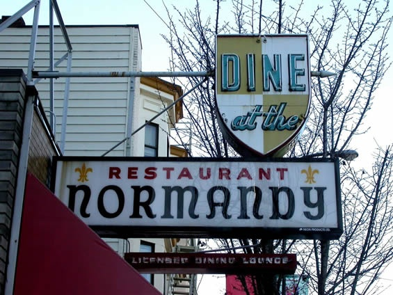 Good food and company—Remembering the Normandy Restaurant. (History of the South Granville neighbourhood, Vancouver, British Columbia.)