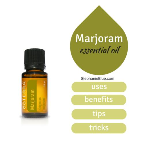Who could have guessed that marjoram essential oil was so versatile.  Go figure.